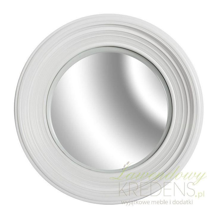Okrągłe lustro z kolekcji firmy Belldeco w dokładnie wyprofilowanej białej obudowie. Będzie wspaniale prezentować się tak jako lustro łazienkowe, małe lusterko do sypialni czy jak ozdobne lustro Belldeco w przedpokoju czy holu. Poczuj jego klimat i zamów je już dziś!