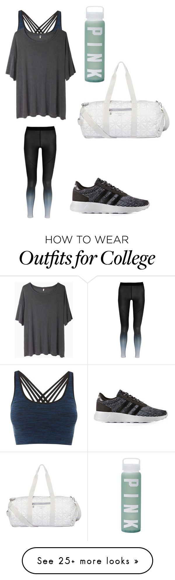"""""""Sporty day"""" by sarahfohlen on Polyvore featuring Pepper & Mayne, R13, adidas, NIKE, Fiorelli, Victoria's Secret, Winter and 2k18"""