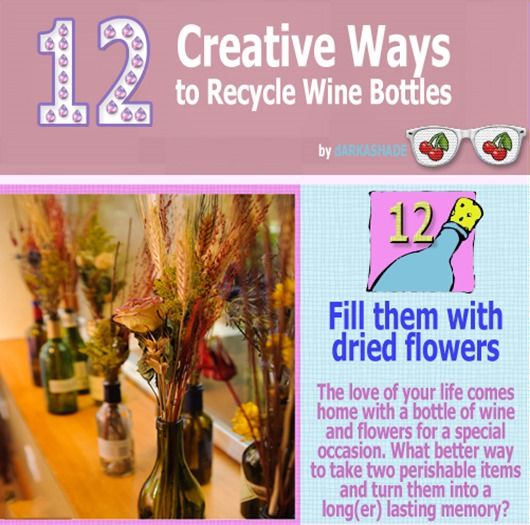 17 best images about diy creative ways to recycle on for Recycling wine bottles creatively