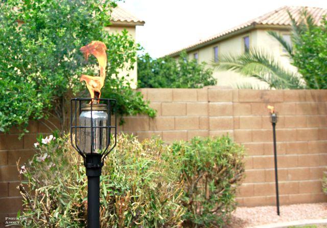 DIY Industrial Tiki Torch For Any Modern Backyard