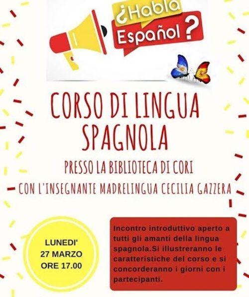 Biblioteca civica 'Elio Filippo Accrocca' di Cori: corso gratuito di lingua spagnola