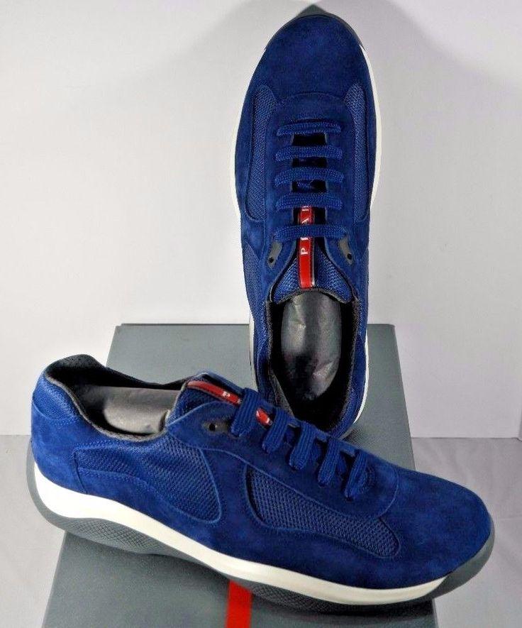 Sneakers for Men On Sale in Outlet, Azure, Nylon, 2017, 5 5.5 6 Prada
