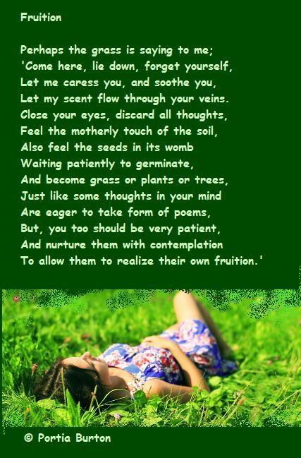 Fruition- a poem by me © Portia Burton