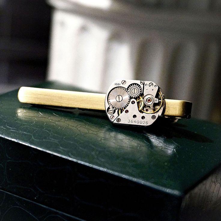 Steampunk BDSM mens jewelry tie clip dominant gift luxury wedding anniversary birthday gift for him man boyfriend husband boss submissive