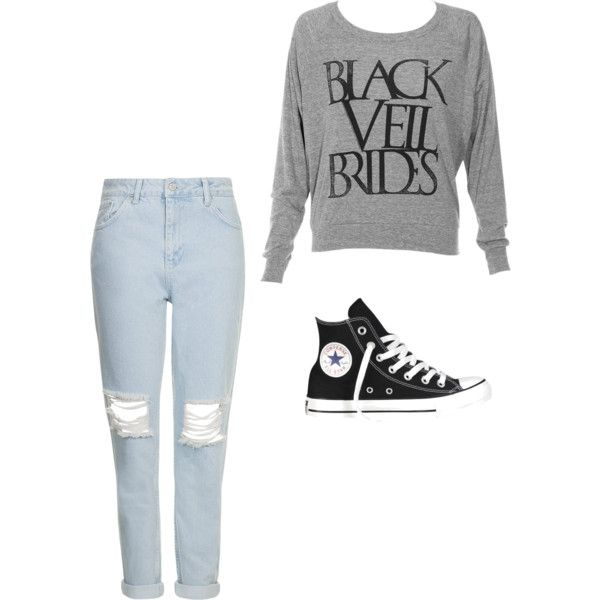look2 by ana-luiza-mafra on Polyvore featuring moda, Topshop and Converse