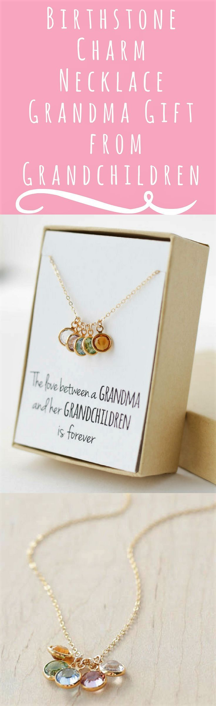 This is a perfect gift idea for birthday or Mother's Day! Birthstone Charm Necklace - Grandma Gift - Gifts for Grandma - Grandmother Gift - Grandmother Necklace - Grandma Gift from Grandchildren #grandma #grandmother #grandmothergift #birthstone #birthstonenecklace #momlife #grandchild #queen #etsy #affiliate