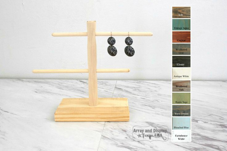 Wood Earring Display Stand, Bracelet Display, Wood Jewelry Display, Jewelry Organizer, Earring Tree, Craft Market Booth Displays