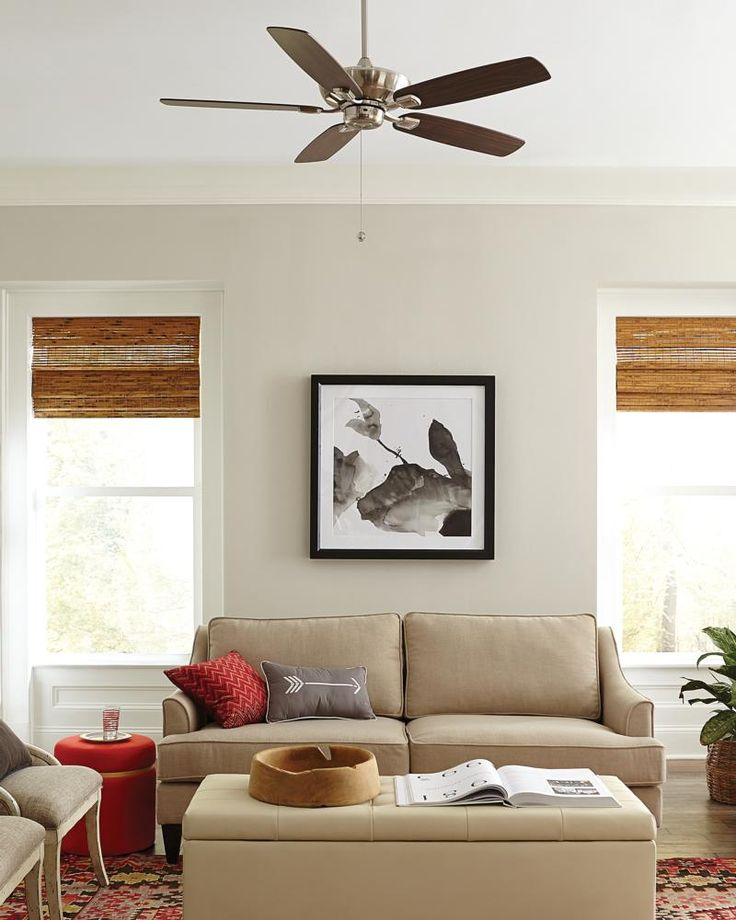 the tailored silhouette and multiple finish and mounting options of the colony max ceiling fan by monte carlo make it a universal choice for any dcor and