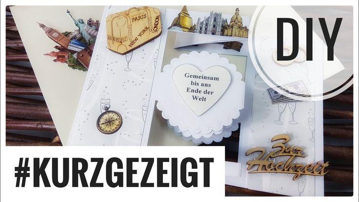 Hochzeitskarte | Kartenbasteln | #kurzgezeigt DIY IDEE [deutsch] Hier eine kleine Inspiration für zwischendurch für Euch zum Karte selber basteln. #selbstgemacht #selbermachen #diy #handmade #Hochzeit #Karten