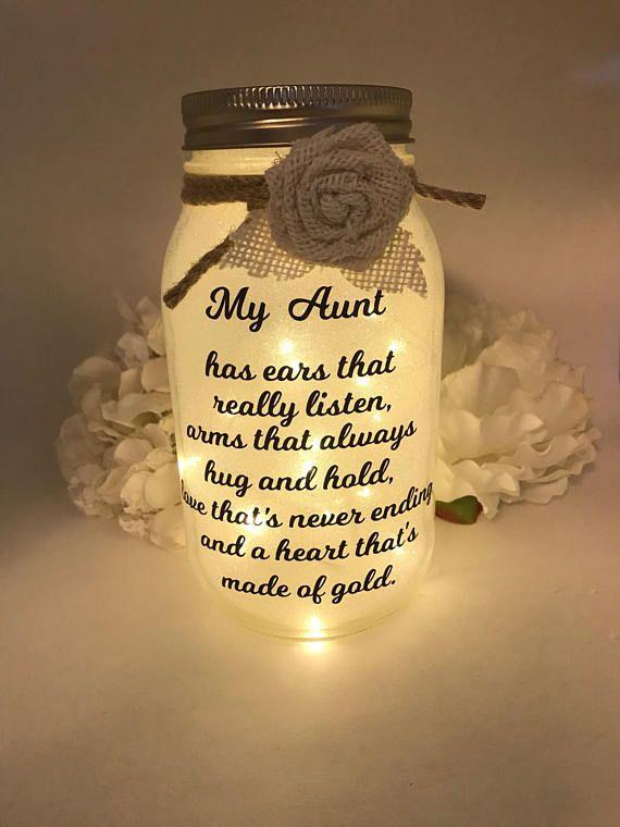 Einmachglas Licht, Einmachglas Nachtlicht, Geschenk für Mama, Geschenk für Tante, Geschenk für Oma, Geschenke, Geburtstagsgeschenk, personalisiert