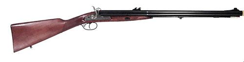 Pedersoli Kodiak Express Double Rifle 72 Caliber Nipple is 1/4 x 28 and uses #11 caps. Load with 80 grains of FFG black powder and patched .710 round ball. Overall length is 42 inches and total weight is 10 1/2 lbs. Made by Pedersoli in Italy.