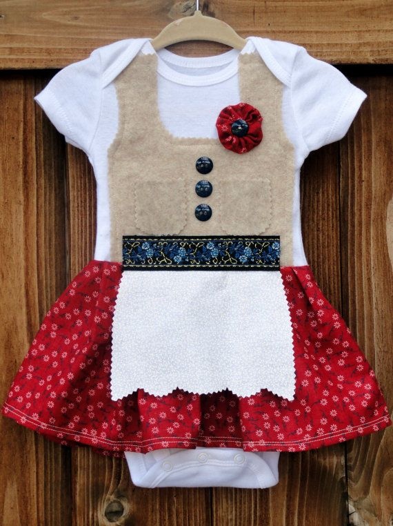 Baby German Dirndl inspired dress by adasaccessories4me on Etsy, $36.00