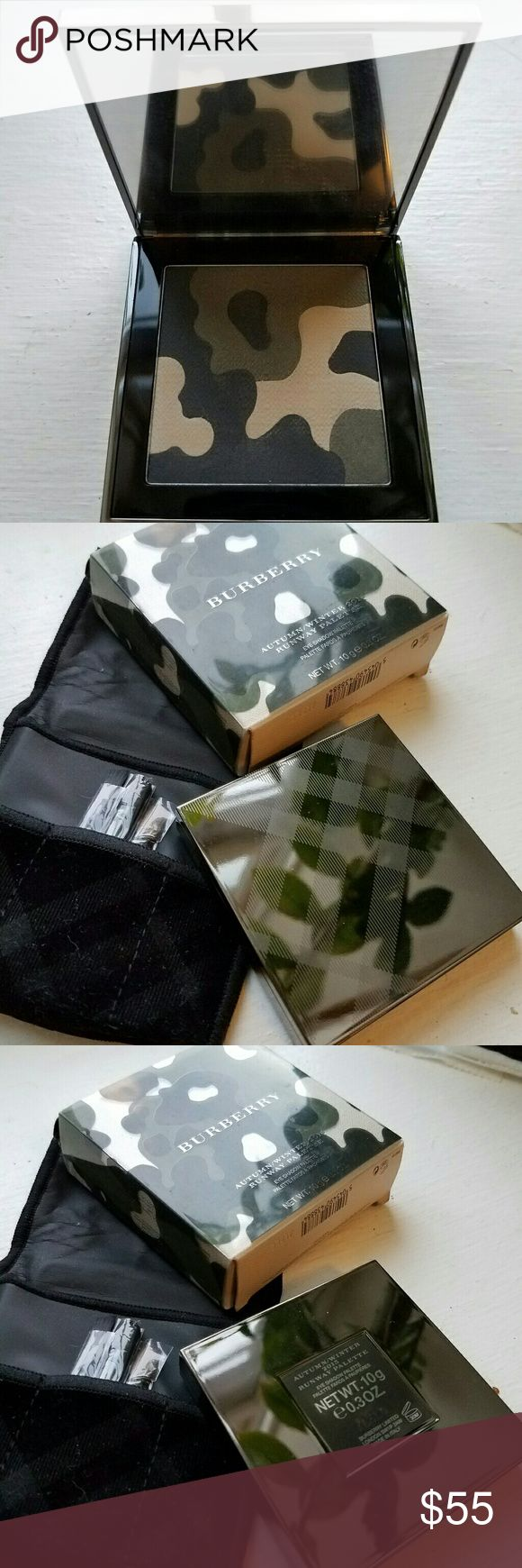 BURBERRY 2015 Camo eyeshadow palette BURBERRY Autumn/Winter 2015 Camo eyeshadow palette (LE). Used once. Comes with pouch, brushes and box. Burberry Makeup Eyeshadow