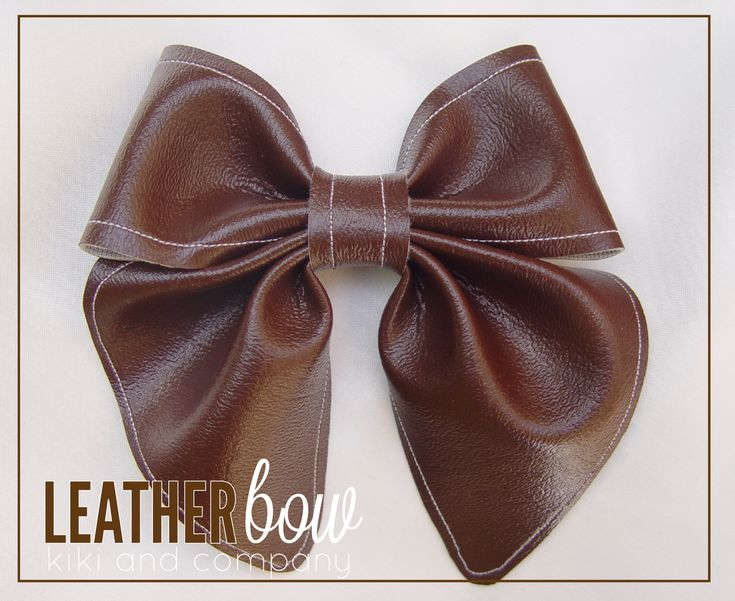 Leather Bow tutorial - something about fall says leather.  Would be cute on a headband!