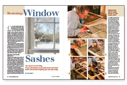 Restoring Window Sashes- Yes, they're worth fixing! Those old windows were built better (and from better wood) than anything you can buy today.