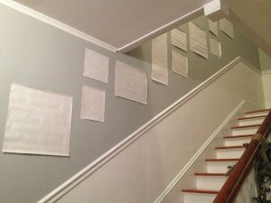 Tricks to hang the perfect stairway gallery!