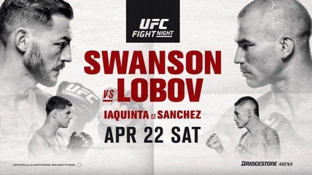 Watch UFC Fight Night 108: Swanson vs. Lobov 4/22/2017 Full Show Online Free