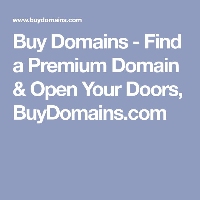 Buy Domains - Find a Premium Domain & Open Your Doors, BuyDomains.com