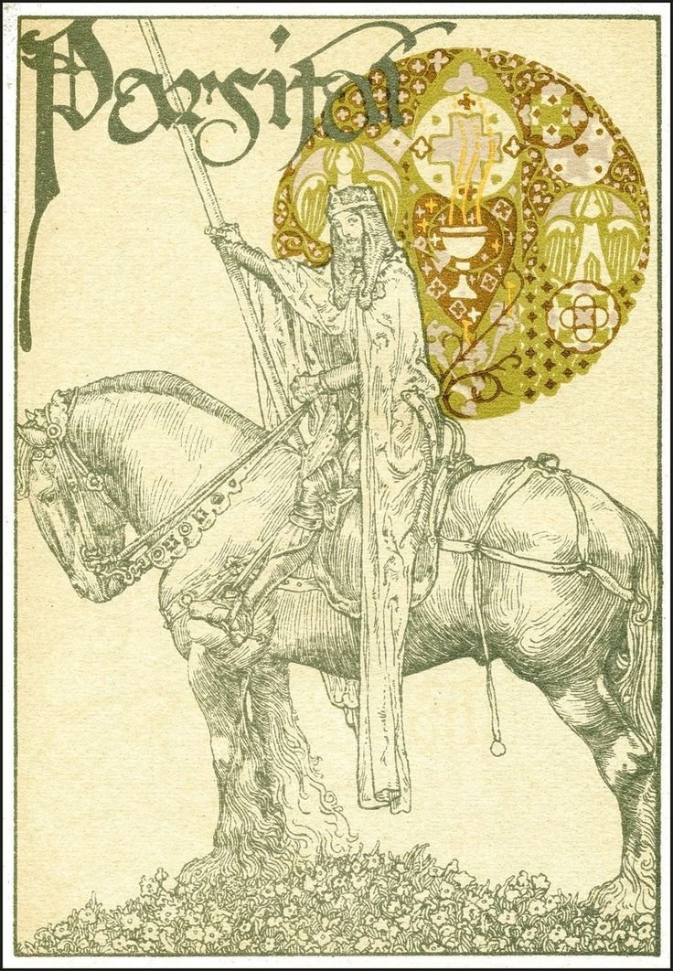 Willy Pogany 1882-1955 Parsifal by Wagner Published by Crowell 1912 via Golden Age Comic Book Stories:
