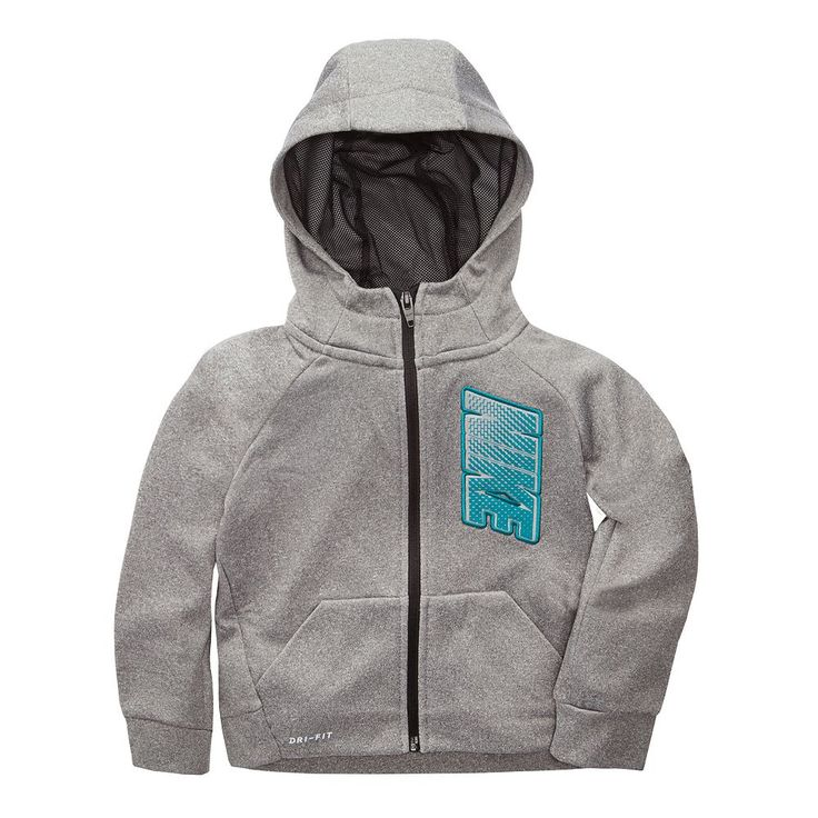 Toddler Boy Nike Logo Zip Hoodie, Size: 3T, Grey Other