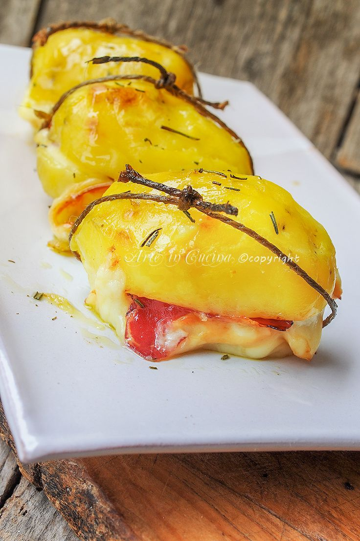 Patate ripiene con scamorza e bresaola al forno vickyart arte in cucina