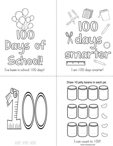 1000 images about 100th day of school on pinterest for 100 days of school coloring page