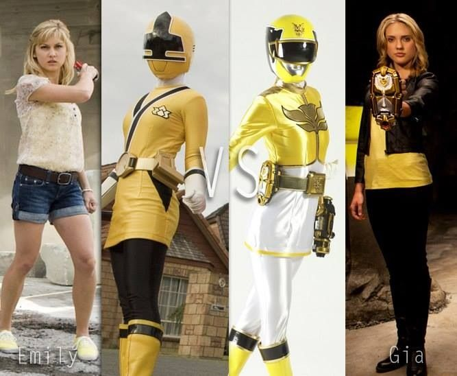 Yellow Rangers - Emily and Emma