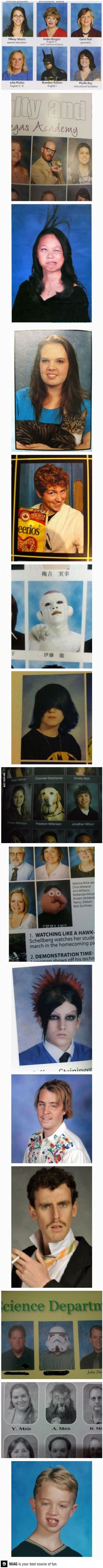 Funniest yearbook photos (I wish I had thought of something like this!)  =)