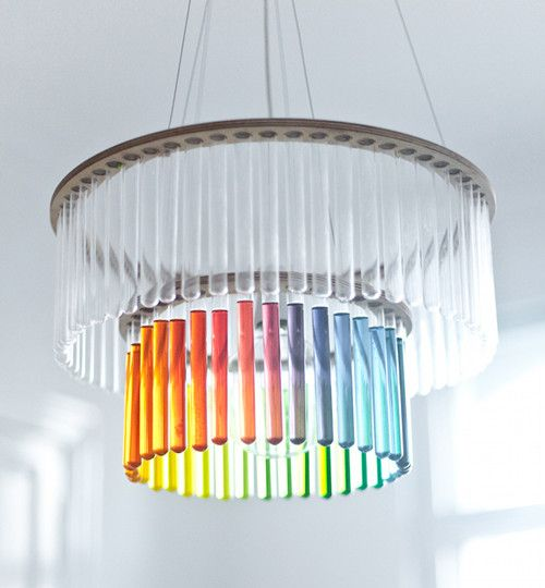 Major #DIY inspiration: test tube chandelier by Pani Jurek