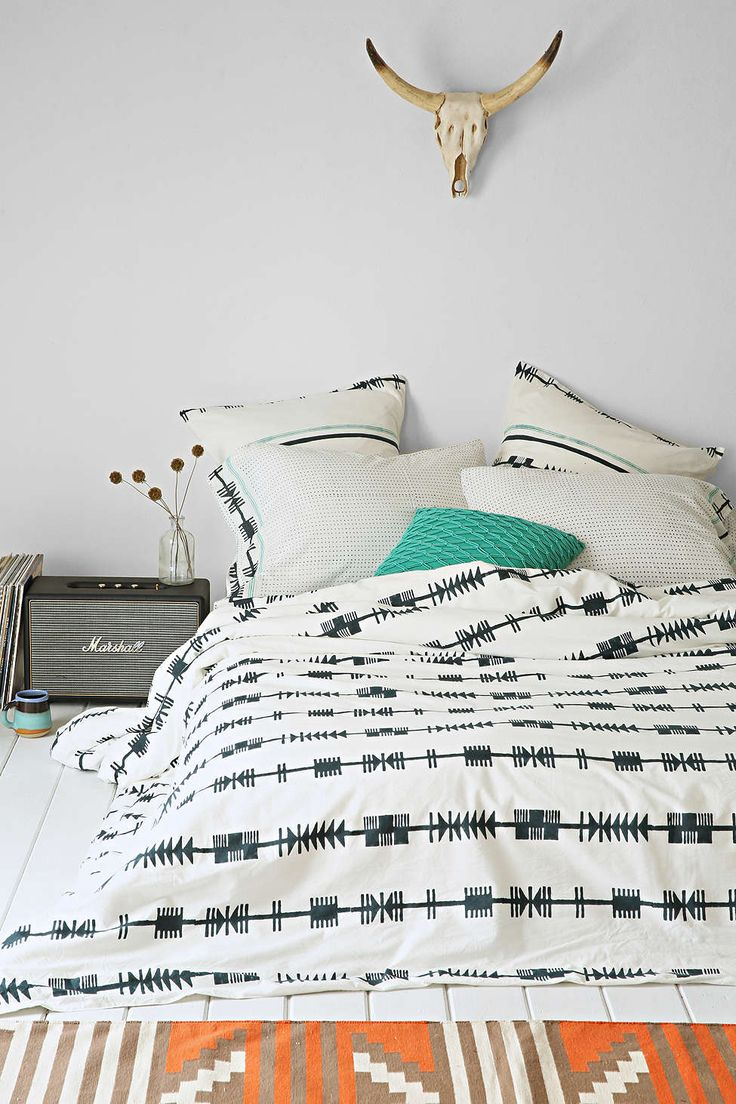 Bohem Hand-Block Arrows Duvet Cover - Urban Outfitters