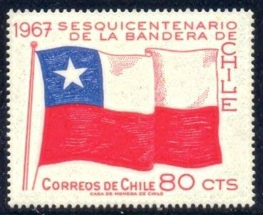 Flags Stamps and Philately: Chile Stamp
