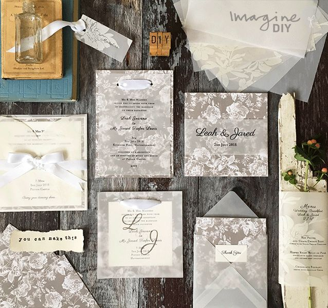 38 best translucent papers images on pinterest diy wedding your own diy wedding stationery junglespirit