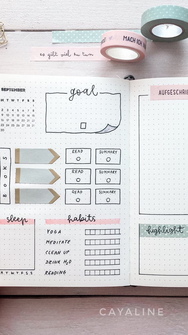 Bullet journal video // weekly spread