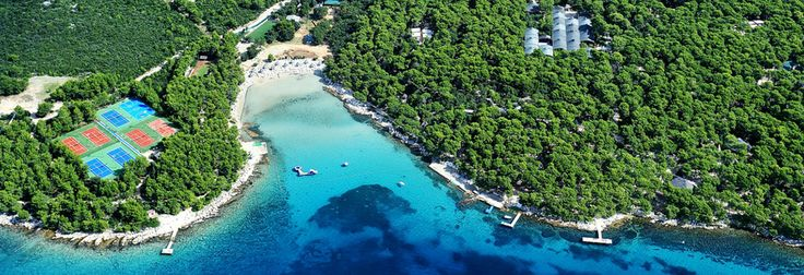 Location of tourist resort Pine Beach Pakostane - Dalmatia, Croatia