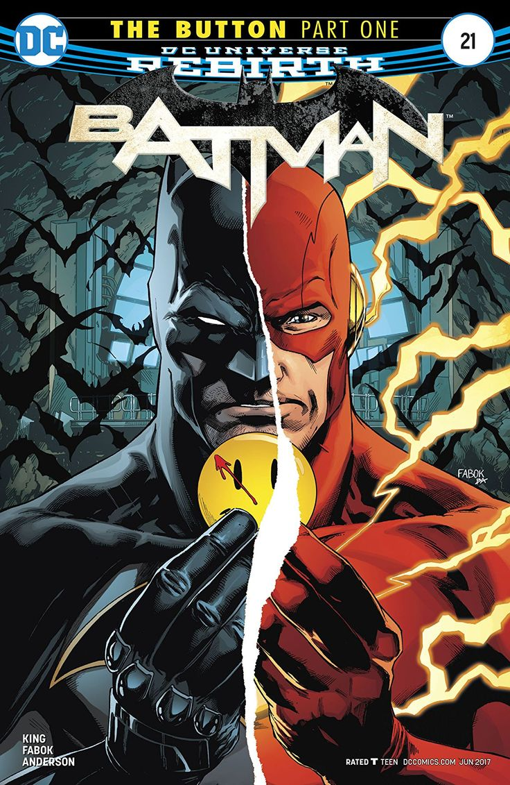 What a way to kick-off a crossover! batman, Batman #21, Brad Anderson, dc, DC Comics, DC Rebirth, Flash, Jason Fabok, the button, the flash, Tom King, watchmen