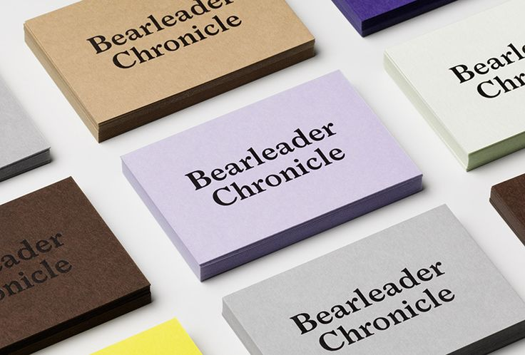Picture of business cards designed by The Studio for the project Bearleader. Published on the Visual Journal in date 21 October 2015