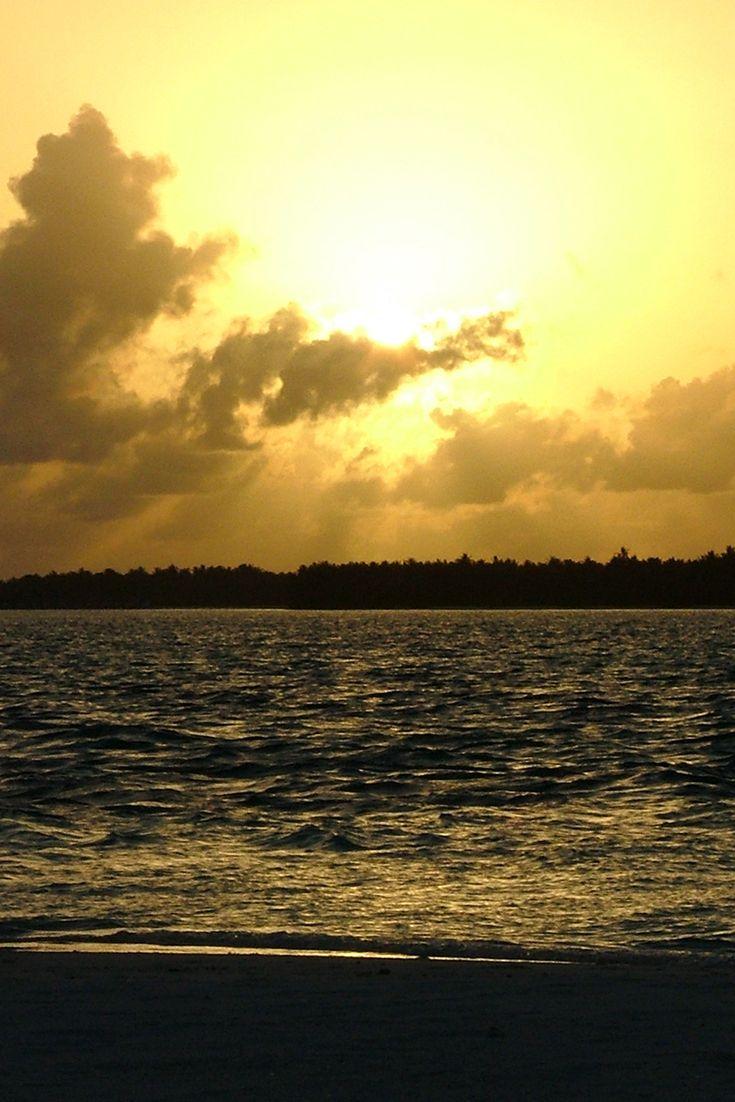 Golden Sunset Maldives - Goldener Sonnenuntergang auf den Malediven