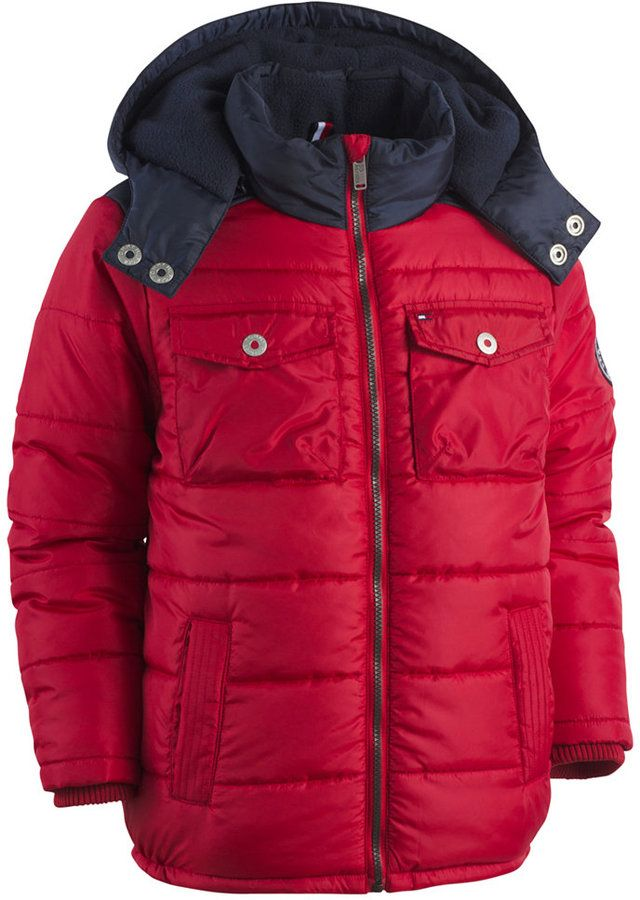 78e4c45d Just the right coat for the man in your life the Tommy Hilfiger Alexander  Hooded Puffer