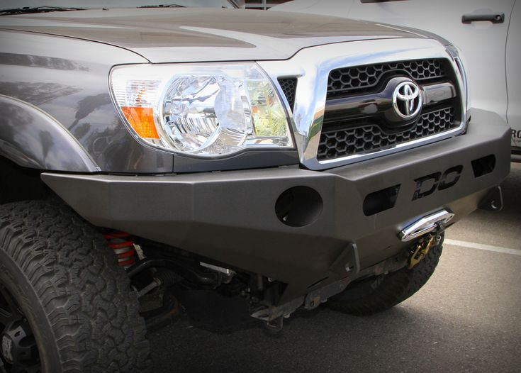 Demello Off Road Tacoma Flat Top Front Bumper With Powder