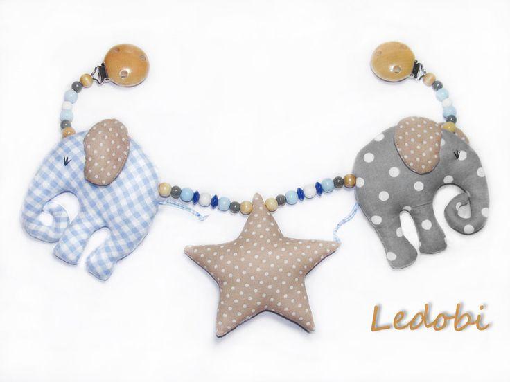 ♥+Kinderwagenkette+Elefant+♥+von+Ledobi+auf+DaWanda.com