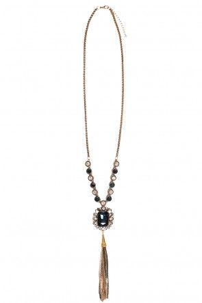 Kisha Saphire and Tassel Necklace