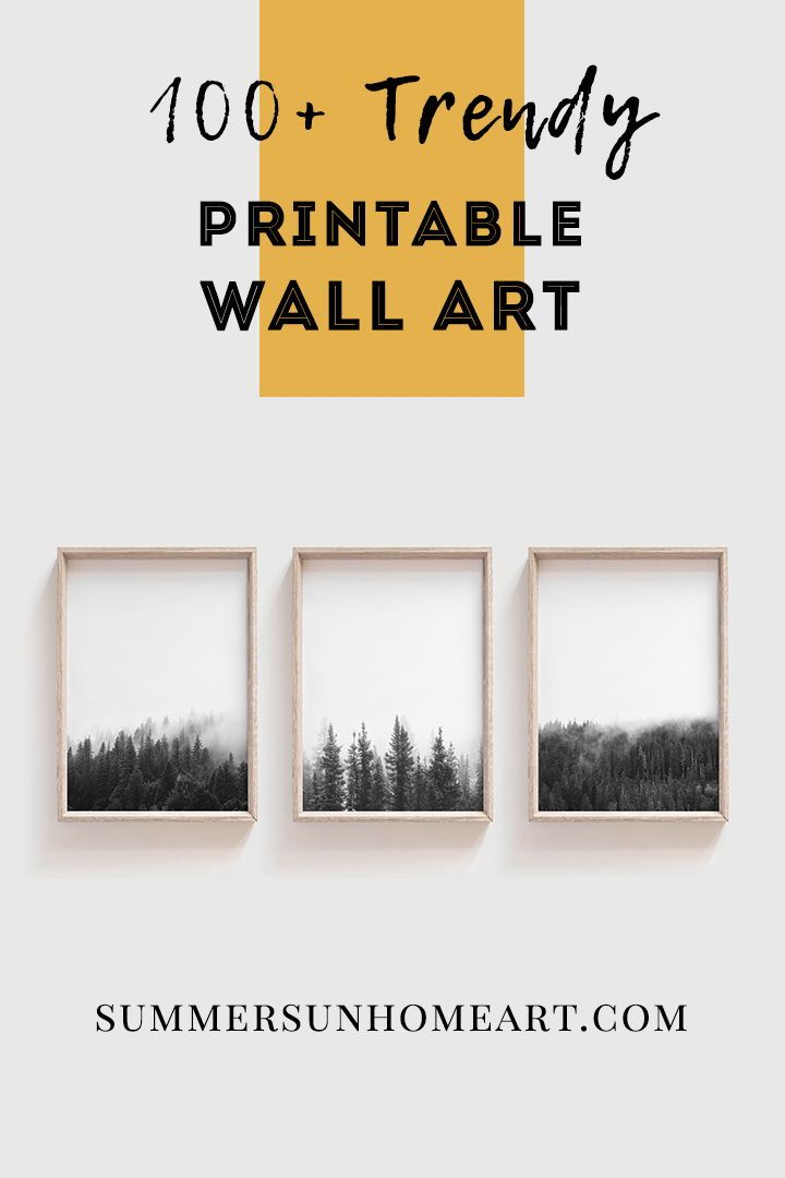 Download 100 Trendy And Affordable Wall Art Designed By Summer Sun Home Art Don T Want To Commit Wall Printables Industrial Wall Art Printable Wall Art