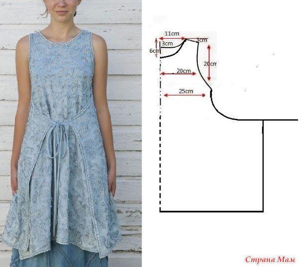 Интересные модели и простые выкройки - 3 (сарафаны и платья)