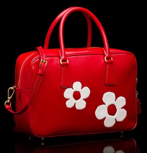 flower applique Prada Patent Saffiano bag   Handbags   Pinterest ...