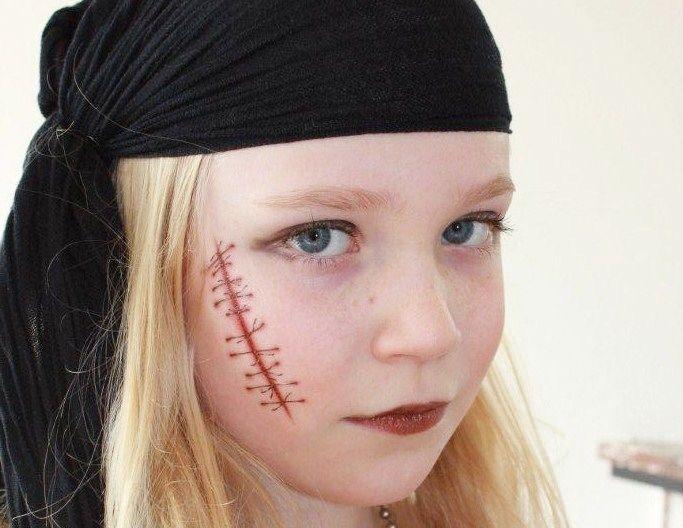 Stoere én mooie piraat! #schminken #piraat #stoer