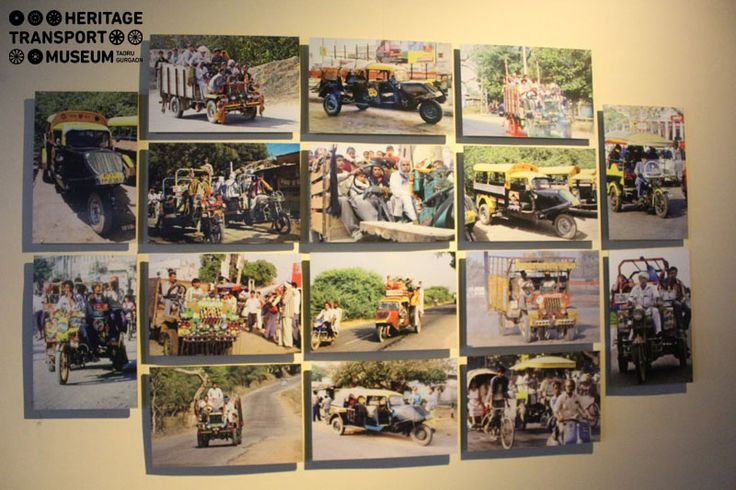 The décor of the museum highlights the essence of Indian transportation! This beautifully decorated wall of the museum perfectly portrays the popular means of transportation of rural India!