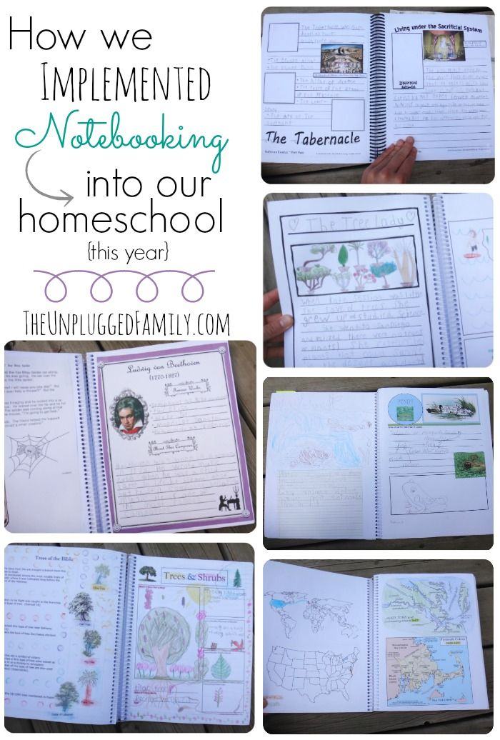 The Unplugged Family: How we incorporated Notebooking into our Homeschool Year {a look in our Notebooks and some thoughts for successful Notebooking}