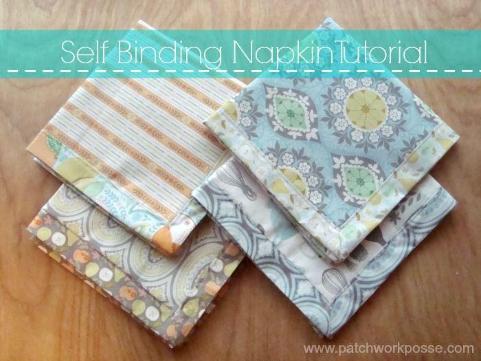 Quick and Simple Fabric Napkin Tutorial | napkins | Pinterest ...