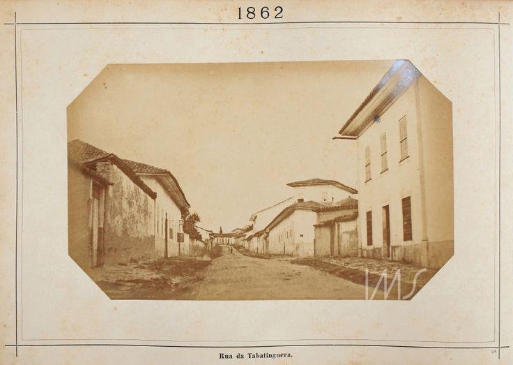 Militão Augusto de Azevedo  Rua Tabatinguera  1862 circa  Centro  São Paulo  SP  Brasil