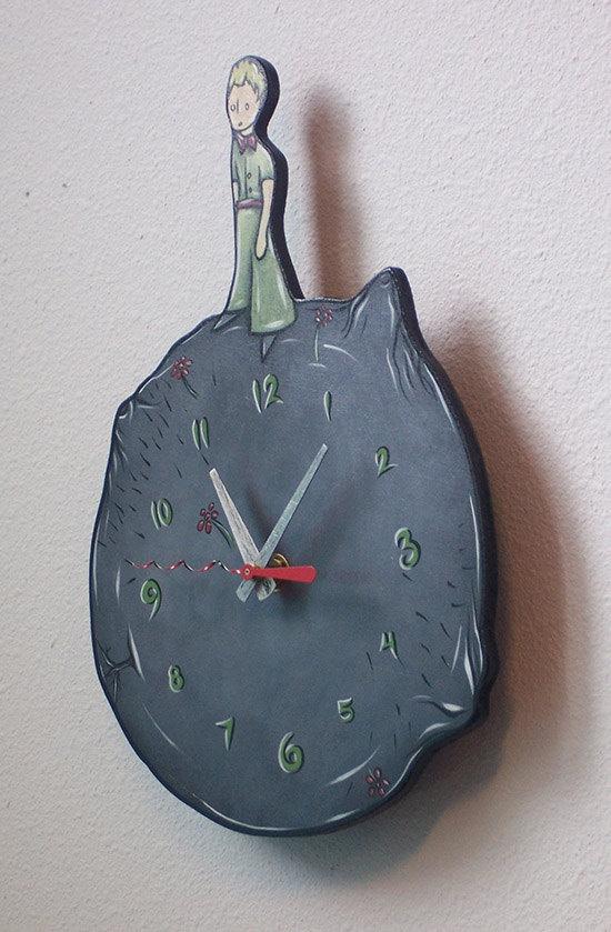The Little Prince Art Clock by OffHerRockerArt on Etsy, $45.00